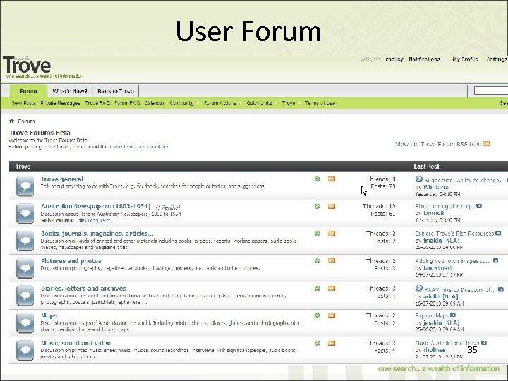 User Forum 35