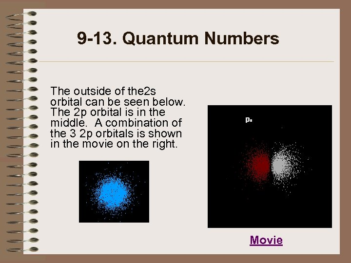 9 -13. Quantum Numbers The outside of the 2 s orbital can be seen