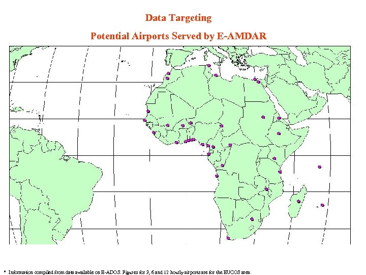 Data Targeting Potential Airports Served by E-AMDAR * Information compiled from data available on