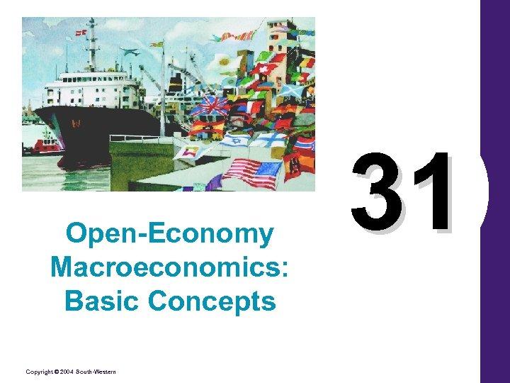 Open-Economy Macroeconomics: Basic Concepts Copyright © 2004 South-Western 31
