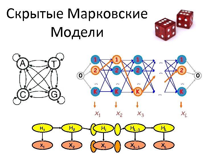 Скрытые Марковские Модели 1 1 … 1 2 2 2 … … … K