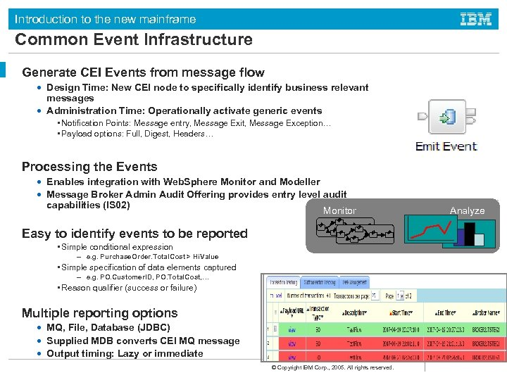 Introduction to the new mainframe Common Event Infrastructure Generate CEI Events from message flow