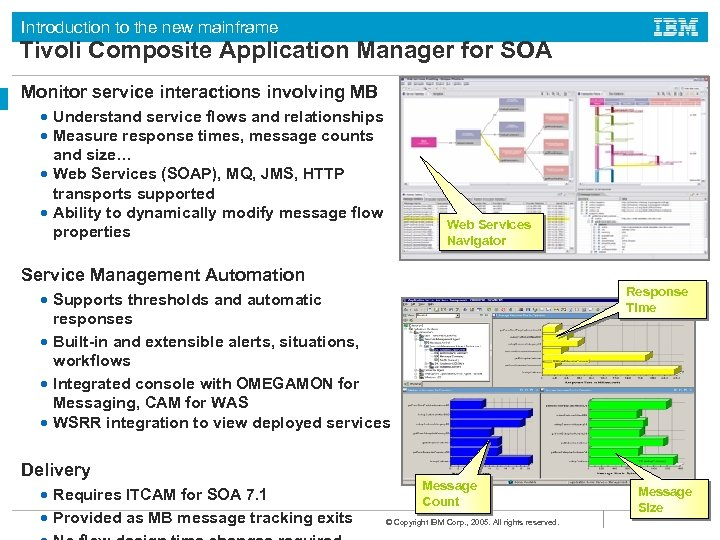 Introduction to the new mainframe Tivoli Composite Application Manager for SOA Monitor service interactions