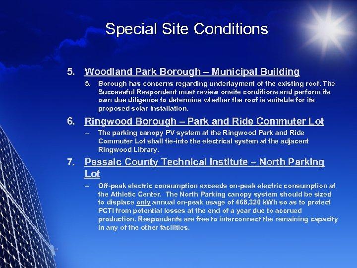 Special Site Conditions 5. Woodland Park Borough – Municipal Building 5. Borough has concerns