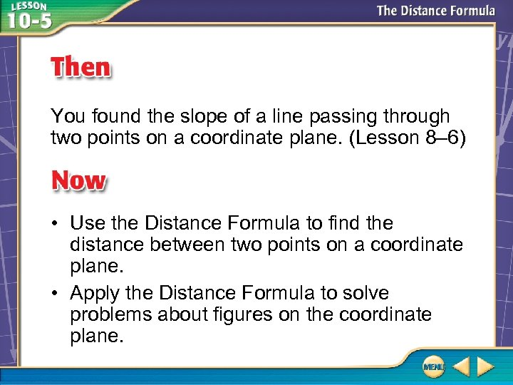 You found the slope of a line passing through two points on a coordinate