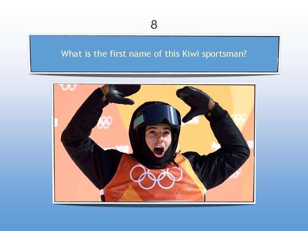 8 What is the first name of this Kiwi sportsman?