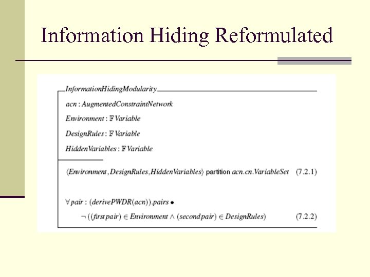 Information Hiding Reformulated