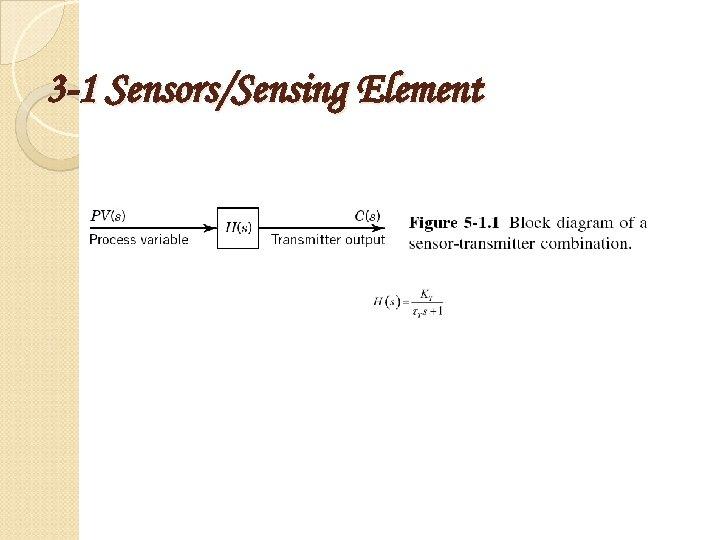 3 -1 Sensors/Sensing Element