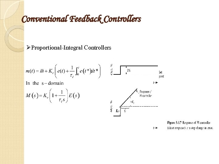 Conventional Feedback Controllers ØProportional-Integral Controllers