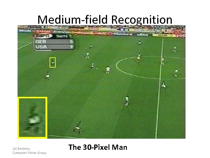 Medium-field Recognition UC Berkeley Computer Vision Group The 30 -Pixel Man