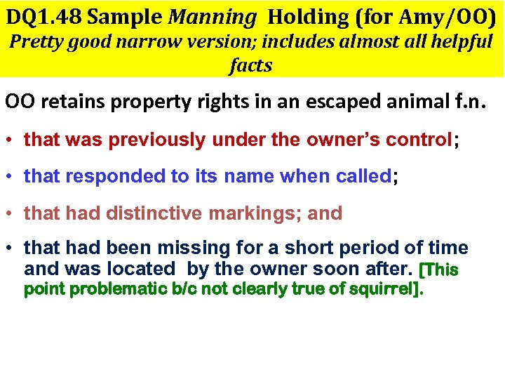 DQ 1. 48 Sample Manning Holding (for Amy/OO) Pretty good narrow version; includes almost