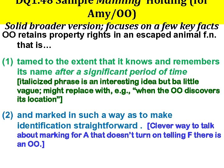 DQ 1. 48 Sample Manning Holding (for Amy/OO) Solid broader version; focuses on a