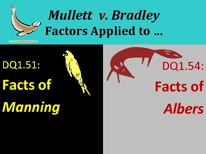 Mullett v. Bradley Factors Applied to … DQ 1. 51: Facts of Manning DQ