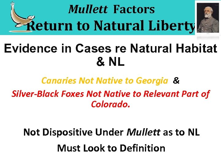 Mullett Factors Return to Natural Liberty Evidence in Cases re Natural Habitat & NL