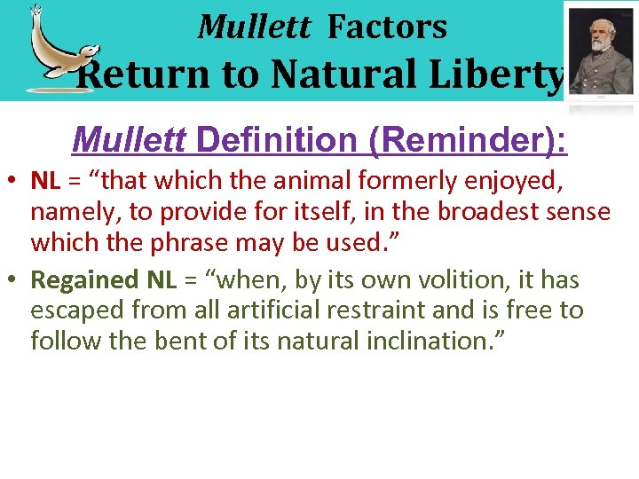 "Mullett Factors Return to Natural Liberty Mullett Definition (Reminder): • NL = ""that which"