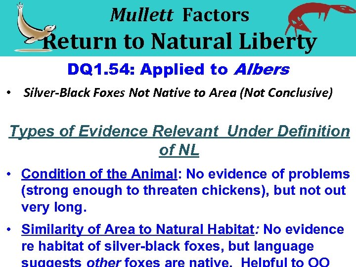 Mullett Factors Return to Natural Liberty DQ 1. 54: Applied to Albers • Silver-Black