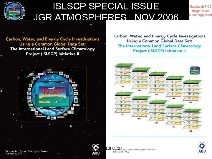 ISLSCP SPECIAL ISSUE JGR ATMOSPHERES, NOV 2006 Forrest Hall 05/07