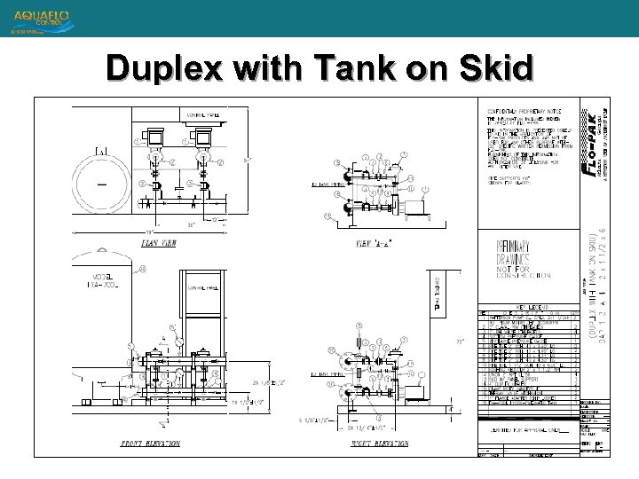 Duplex with Tank on Skid