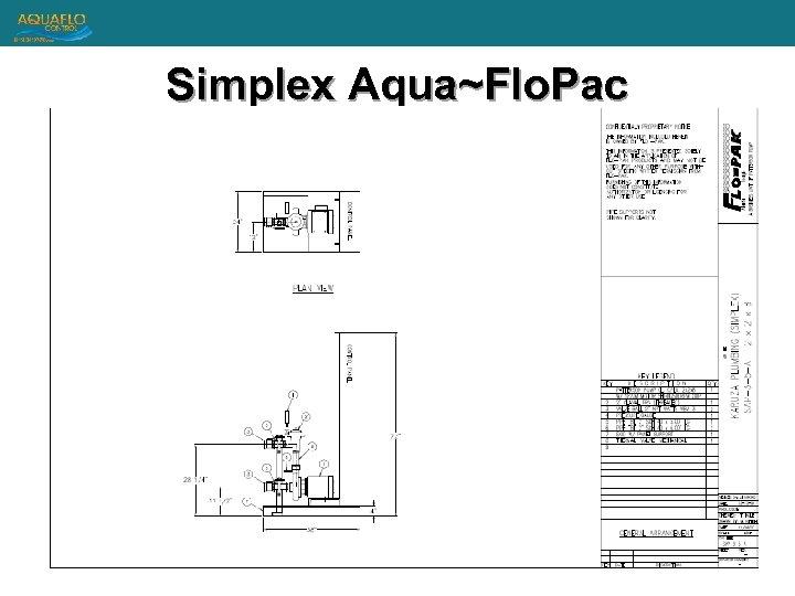 Simplex Aqua~Flo. Pac