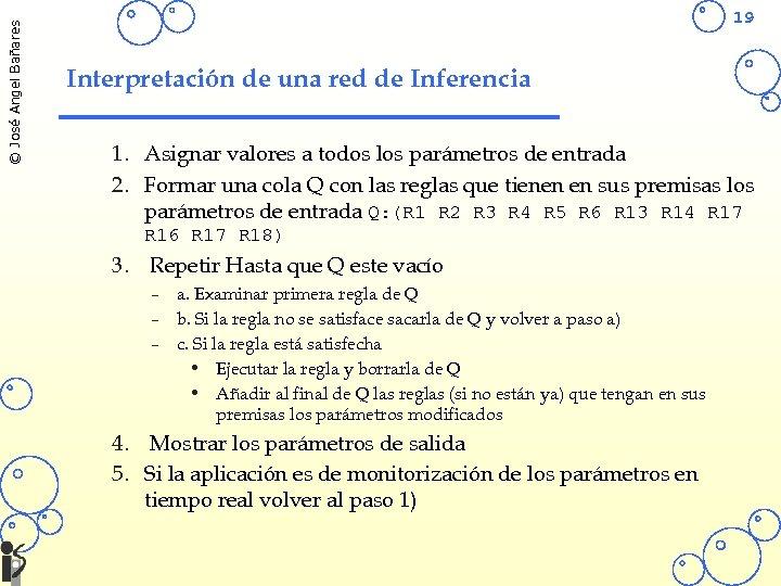 © José Angel Bañares 19 Interpretación de una red de Inferencia 1. Asignar valores