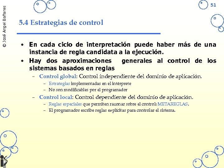 © José Angel Bañares 51 5. 4 Estrategias de control • En cada ciclo