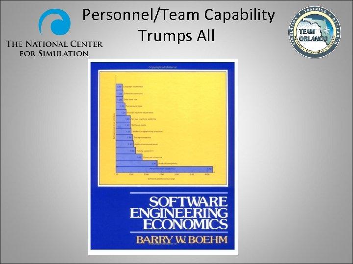 Personnel/Team Capability Trumps All