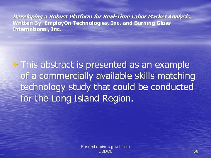 Developing a Robust Platform for Real-Time Labor Market Analysis , Written By: Employ. On
