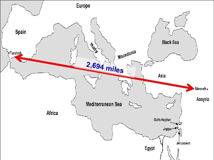 2, 694 m iles