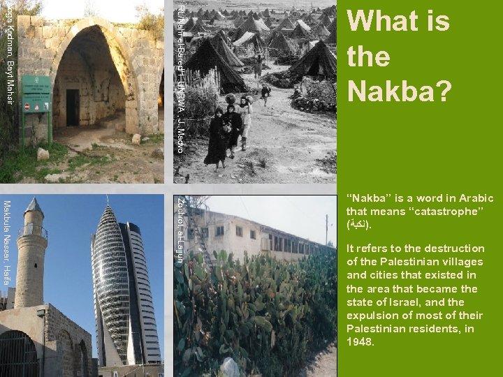 RL/Nahr el-Bared/1 : UNRWA , J. Madvo Noga Kadman, Bayt Mahsir What is the