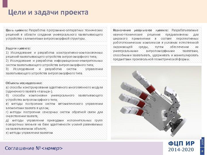 Цели и задачи проекта Цель проекта: Разработка программно-аппаратных технических решений в области создания универсального