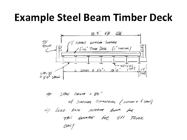 Example Steel Beam Timber Deck