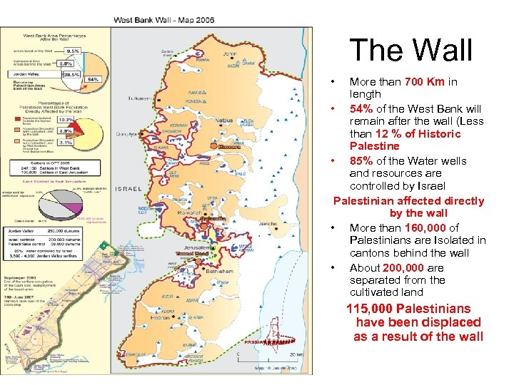 The Wall • More than 700 Km in length • 54% of the West