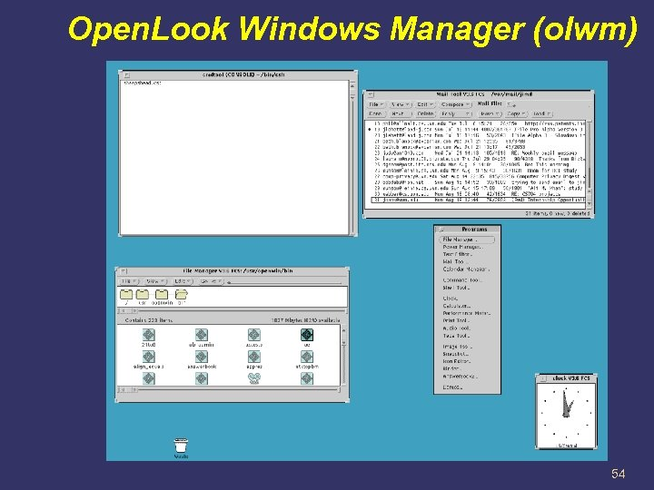 Open. Look Windows Manager (olwm) 54