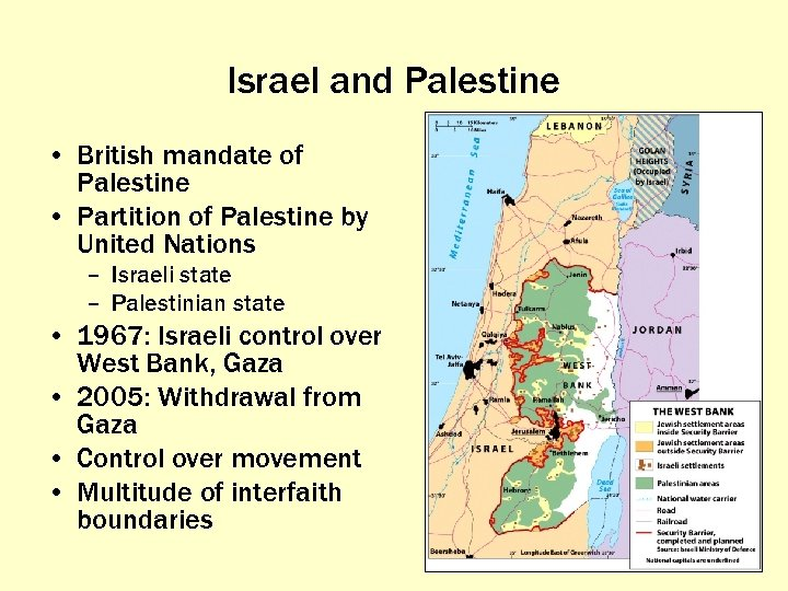 Israel and Palestine • British mandate of Palestine • Partition of Palestine by United