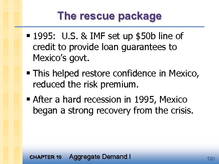 The rescue package § 1995: U. S. & IMF set up $50 b line