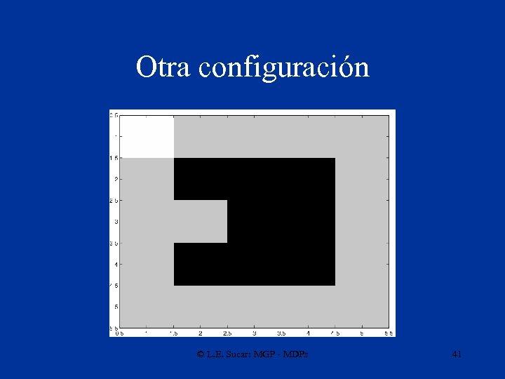 Otra configuración © L. E. Sucar: MGP - MDPs 41