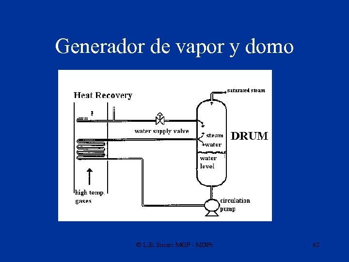 Generador de vapor y domo © L. E. Sucar: MGP - MDPs 62