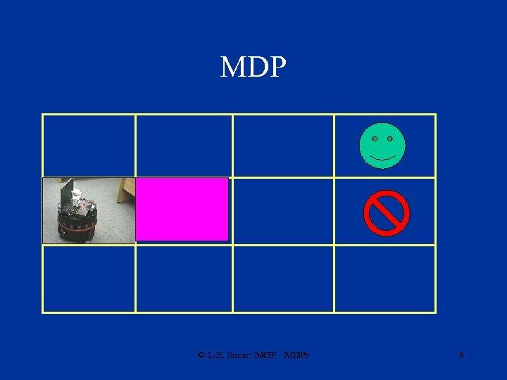 MDP © L. E. Sucar: MGP - MDPs 8