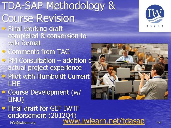 TDA-SAP Methodology & Course Revision • Final working draft • • • completed &