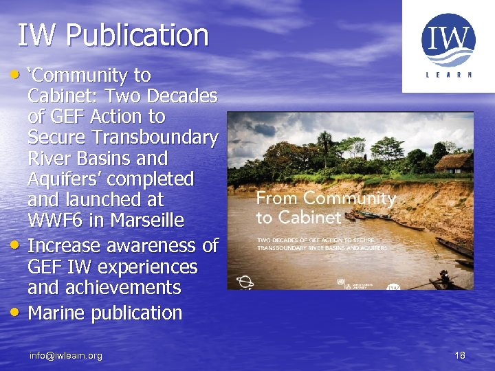 IW Publication • 'Community to • • Cabinet: Two Decades of GEF Action to