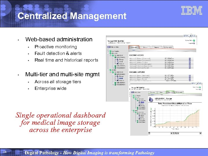 Centralized Management • Web-based administration • • Proactive monitoring Fault detection & alerts Real