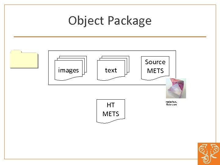 Object Package images text Source METS Zip HT METS malachus, Flickr. com