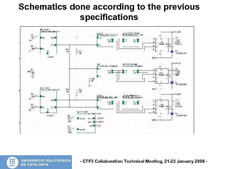 Schematics done according to the previous specifications - CTF 3 Collaboration Technical Meeting, 21