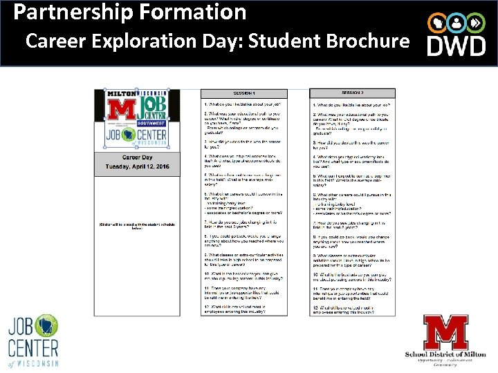 Partnership Formation Career Exploration Day: Student Brochure