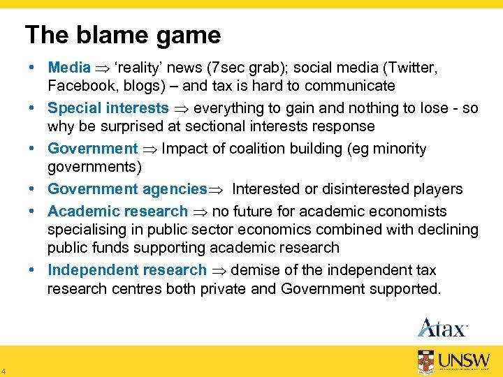 The blame game • Media 'reality' news (7 sec grab); social media (Twitter, Facebook,
