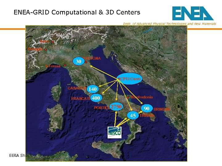 ENEA-GRID Computational & 3 D Centers Dept. of Advanced Physical Technologies and New Materials