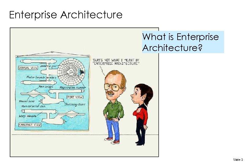 Enterprise Architecture What is Enterprise Architecture? Slide 2