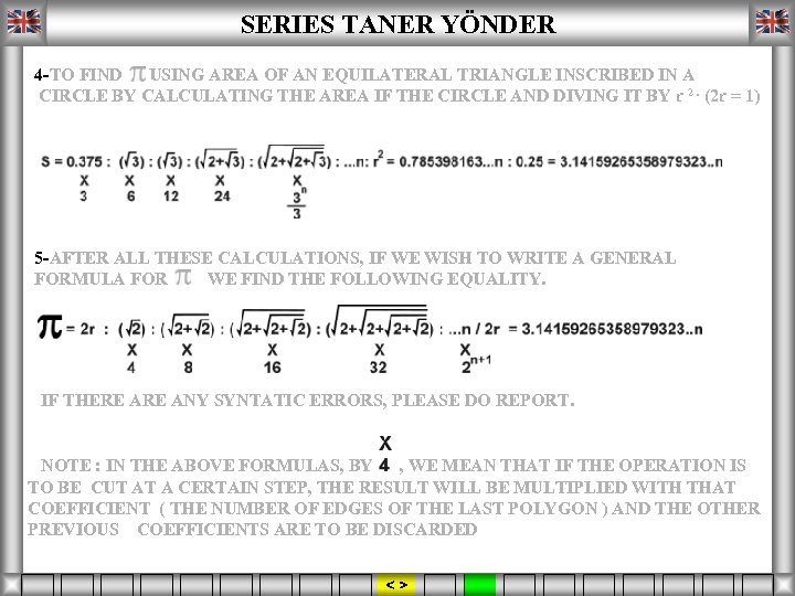 SERIES TANER YÖNDER 4 -TO FIND USING AREA OF AN EQUILATERAL TRIANGLE INSCRIBED IN
