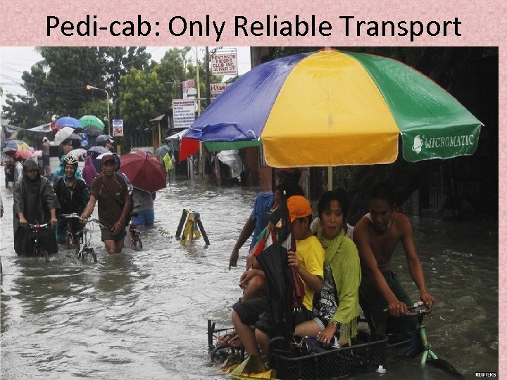 Pedi-cab: Only Reliable Transport