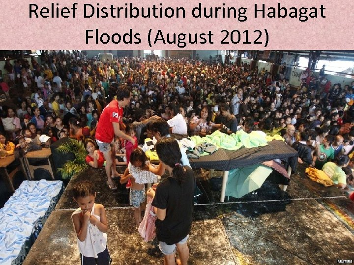 Relief Distribution during Habagat Floods (August 2012)